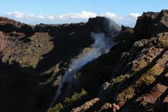 fumaroles royaltyfri bild