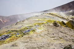 Fumaroles on Vulcano Royalty Free Stock Images