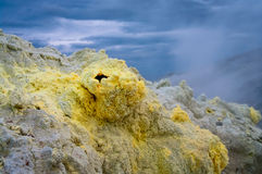 Fumarolic field at  Mendeleev volcano, Kunashir island, Russi Royalty Free Stock Photography