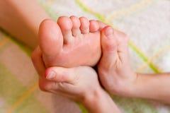 Fußmassage Stockfoto