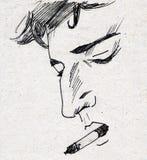 fumatore Fotografia Stock