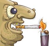 Fumatore terribile con la sigaretta Fotografie Stock Libere da Diritti