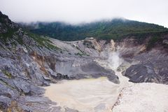 Fume of Crater Royalty Free Stock Photos