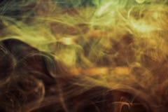 Fumée d'or Photo libre de droits