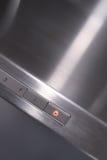 Fume hood. Steel fume hood of a modern kitchen Royalty Free Stock Photo