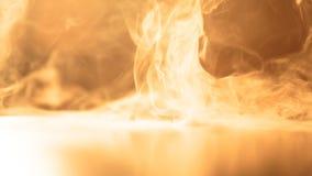 Fume nos raios do sol morno brilhante Fotografia de Stock Royalty Free