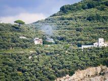 Fumerole  the Amalfi Coast Royalty Free Stock Photo
