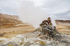 Fumerolle islandaise Images libres de droits