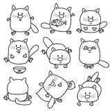 Fumetti dei gatti di vettore Immagine Stock Libera da Diritti
