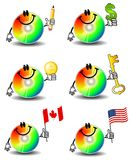 Fumetti del CD del calcolatore Immagine Stock Libera da Diritti