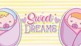 Fumetti di sogni dolci Immagini Stock Libere da Diritti