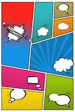 Fumetti differenti sul fondo di Pop art Illustrazione di vettore illustrazione vettoriale