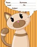 Fumetti e fondo del gatto Fotografia Stock Libera da Diritti