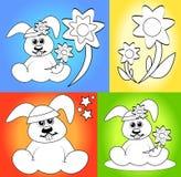 Fumetti per le pagine del libro di coloritura Fotografia Stock
