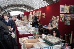 Fumetti su esposizione alla convenzione di Festival del Fumetto a Milano, Italia Immagine Stock
