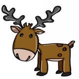Fumetti svegli della renna royalty illustrazione gratis