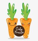 Fumetti svegli delle carote royalty illustrazione gratis