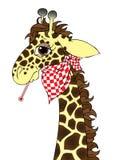 Fumetto ammalato della giraffa illustrazione di stock
