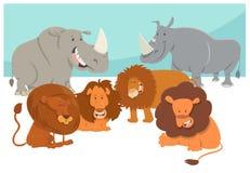 Fumetto animale dei caratteri di safari Fotografia Stock Libera da Diritti