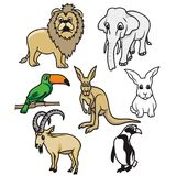 FUMETTO ANIMALE G1 del PACCHETTO di LION Etc Immagini Stock Libere da Diritti