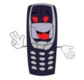 Fumetto appassionato del telefono Immagini Stock