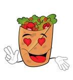 Fumetto appassionato di kebab Fotografie Stock