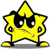 Fumetto arrabbiato della stella isolato royalty illustrazione gratis