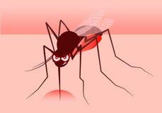 Fumetto arrabbiato della zanzara Illustrazione Immagine Stock Libera da Diritti