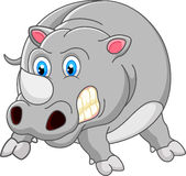 Fumetto arrabbiato di rinoceronte illustrazione vettoriale