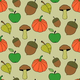 Fumetto Autumn Seamless Pattern Immagini Stock