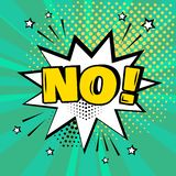 Fumetto bianco senza la parola su fondo verde Effetti sonori comici nello stile di Pop art Illustrazione di vettore illustrazione vettoriale