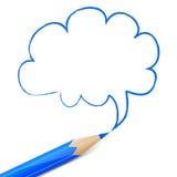 Fumetto blu disegnato con la matita Immagini Stock