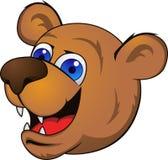 Fumetto capo dell'orso Fotografie Stock
