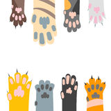 Fumetto Cat Paw Card Background differente Vettore royalty illustrazione gratis