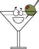 Fumetto che ghigna Martini Fotografia Stock