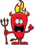 Fumetto Chili Pepper Devil Idea Fotografia Stock
