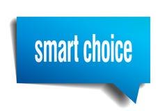 Fumetto choice astuto del blu 3d Fotografia Stock Libera da Diritti