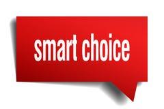 Fumetto choice astuto di rosso 3d Immagine Stock