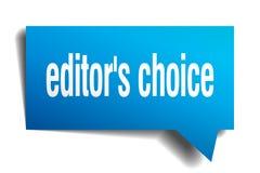 Fumetto choice del blu 3d del ` s del redattore Immagine Stock Libera da Diritti
