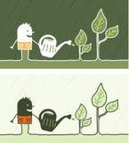 Fumetto colorato di giardinaggio Fotografia Stock