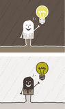 Fumetto colorato idea Fotografia Stock Libera da Diritti