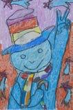 Fumetto come illustrazione di carta bianca Fotografia Stock Libera da Diritti