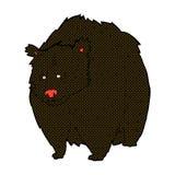 fumetto comico enorme dell'orso nero illustrazione vettoriale