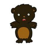 fumetto comico spaventato dell'orso nero Fotografia Stock