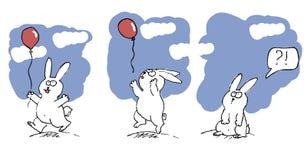 Fumetto con un coniglio. Illustrazione Vettoriale