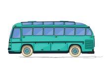Fumetto d'annata del bus Fotografia Stock Libera da Diritti
