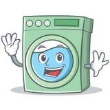 Fumetto d'ondeggiamento del carattere della lavatrice illustrazione di stock