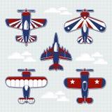 Fumetto degli aeroplani per l'album per ritagli puerile Immagini Stock Libere da Diritti