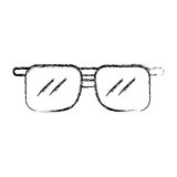 Fumetto degli occhiali da sole di tiraggio di schizzo Immagine Stock