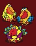 Fumetto degli uccelli Immagine Stock